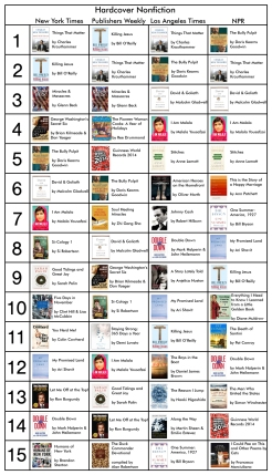 Bestseller Nonfiction 12-6-13