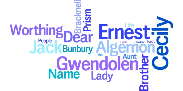 Importance of Being Earnest wordle art