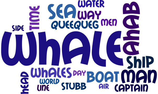 Moby Dick word cloud