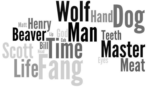 White Fang wordle art