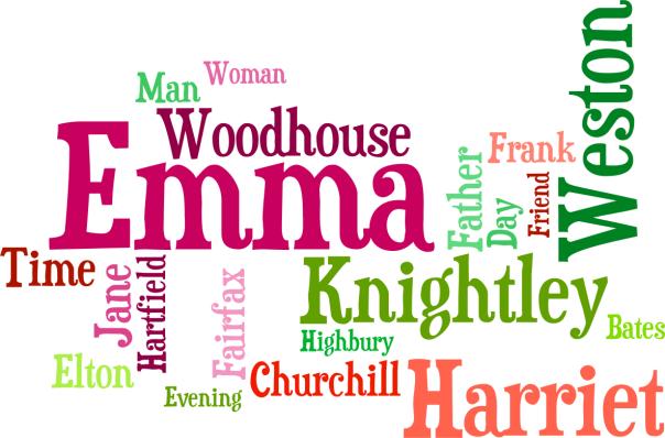 Word cloud for Emma by Jane Austen