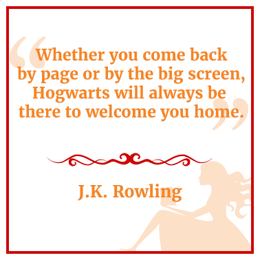 quote from J.K. Rowling about Hogwarts